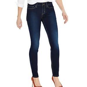 Levis 711 Womens Dark Wash Skinny Jeans 29